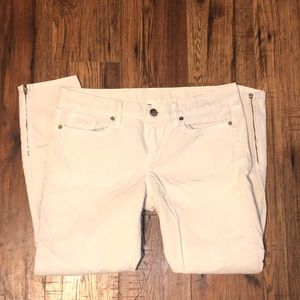 J Crew Toothpick Ankle Cord with Zippers Size 29